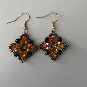 Cute handmade beaded earrings